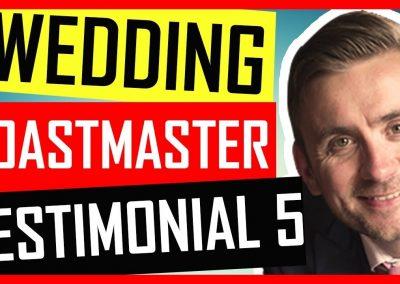 Modern Wedding Toastmaster -Testimonial – Down Hall Hertfordshire 2