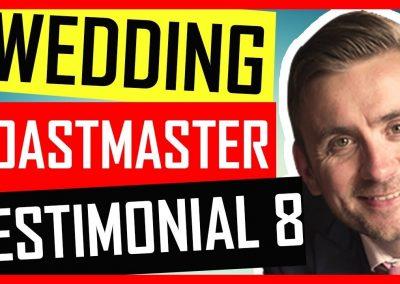 Wedding Toastmaster Testimonial – Hire an Entertaining Wedding Toastmaster In Cambridgeshire