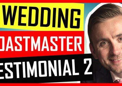 Cumbria Wedding Toastmaster – Testimonial – The Grange Country House