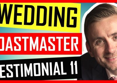 Book Wedding Toastmaster – Testimonial – Hedsor House, Buckinghamshire