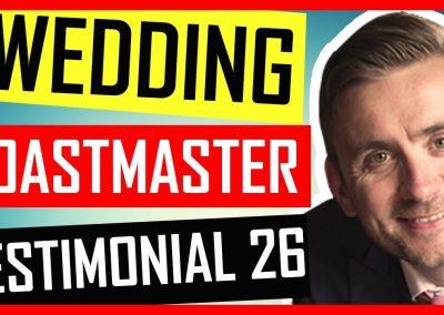 Hertfordshire Wedding Toastmaster Testimonials – Shendish Manor