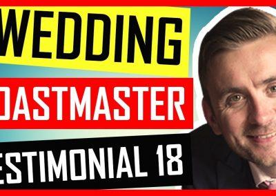 Essex Wedding Toastmaster – Testimonial – Blakes Golf Club