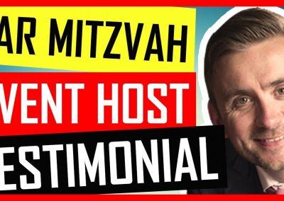 Bar Mitzvah Master of Ceremonies / Event Host / MC / Toastmaster – London Testimonial